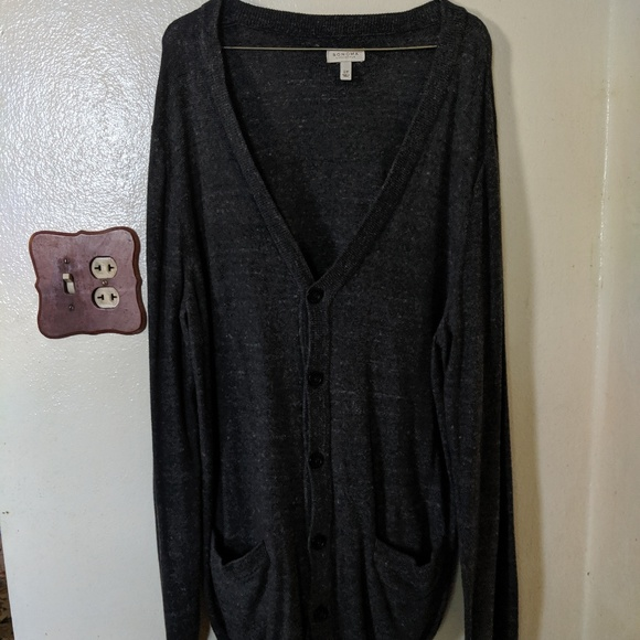 Sonoma Other - Sonoma Grey Button Up Cardigan Large Tall